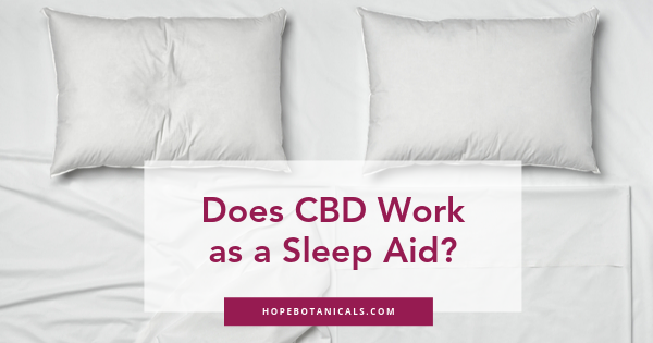 Does CBD work as a sleep aid?